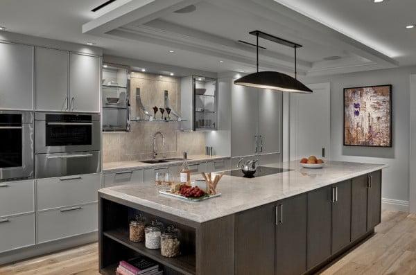 Neutral Grey Kitchen Cabinets