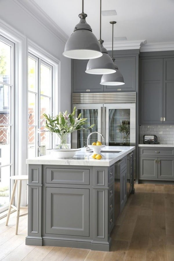 Grey Kitchen Cabinets In Modern Farmhouse Decor Kitchendesign