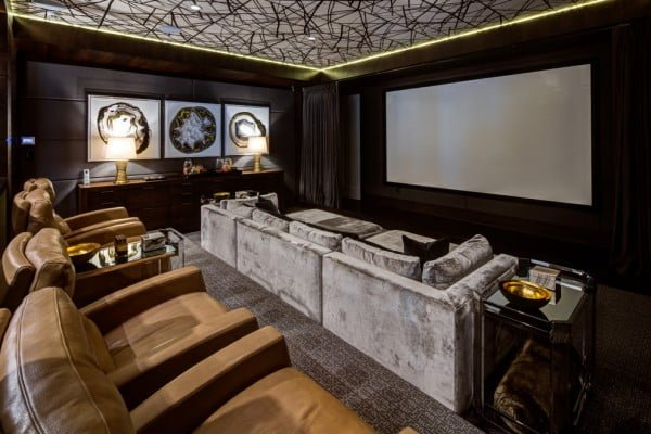 Art Deco Home Theater Design