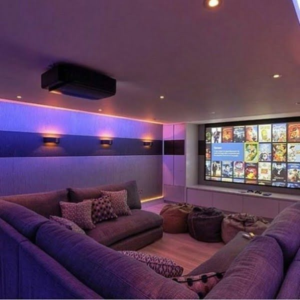 Mood Lighting Idea in Home Theater Design
