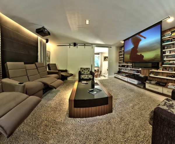 Modern Farmhouse Home Theater Design