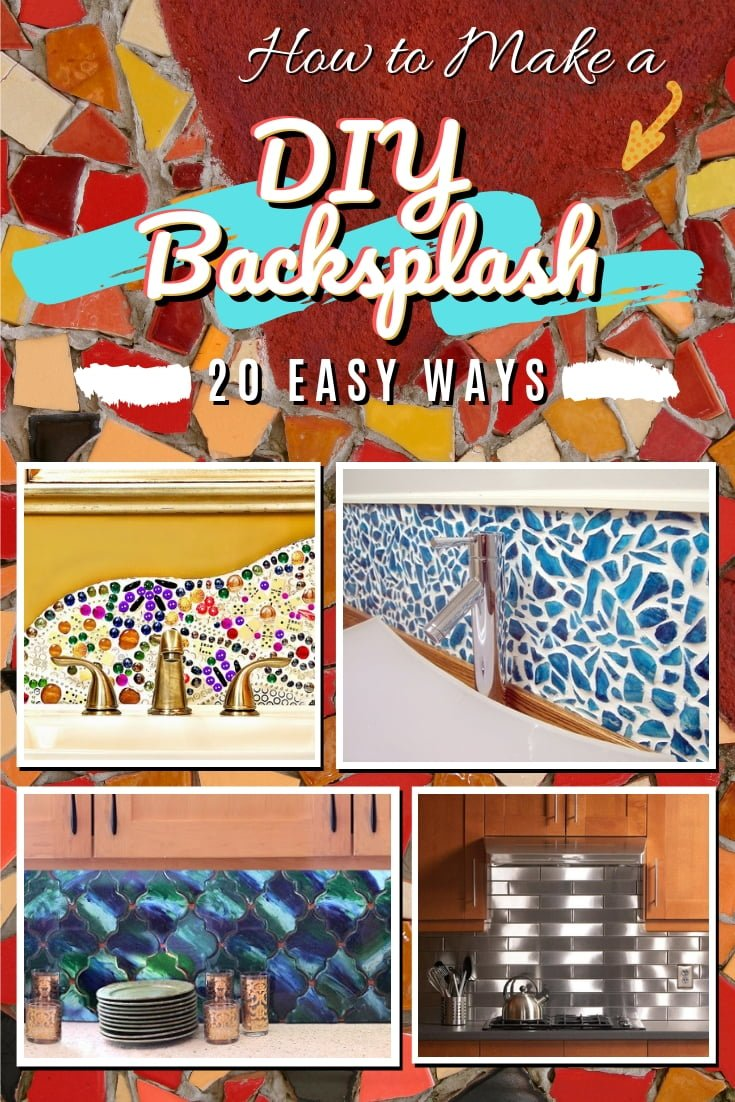 Making a DIY kitchen backsplash is easy. That is if you have a great list of tutorials like this. Here are 20 easy ways to make a DIY backsplash. Worth saving! #homedecor #DIY #kitchendesign