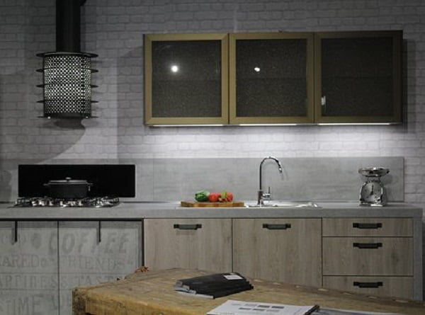 Grey Kitchen Cabinets in Rustic Industrial Decor #kitchendesign