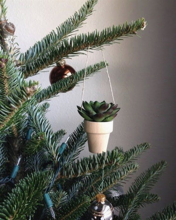 Christmas Tree Succulent Planter Ornament