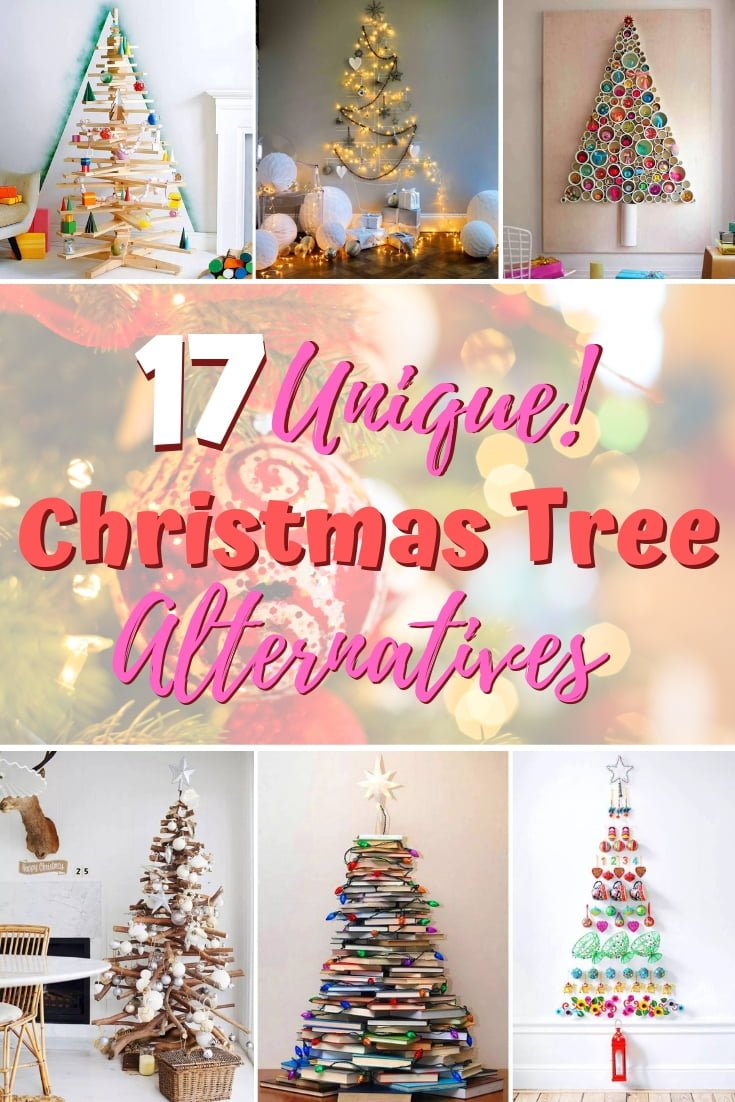 Want to be unique with your Christmas decor this year? Here are 17 unique Christmas tree alternatives for your inspiration! #holidays #homedecor #christmas