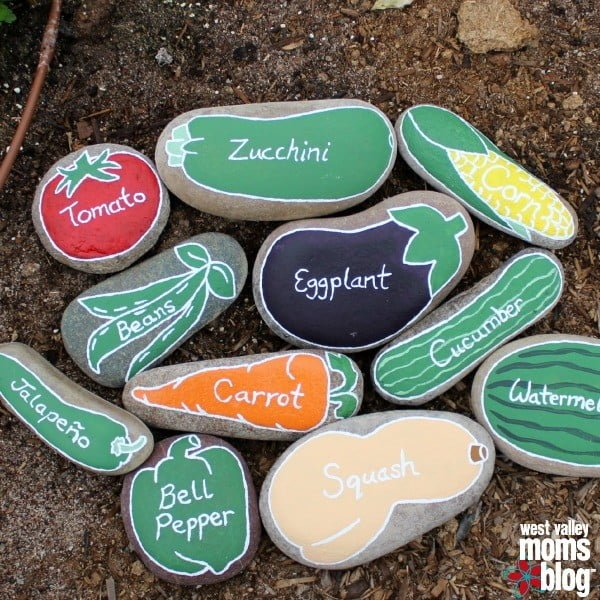 Painted River Rock Garden Markers to Make and Sell