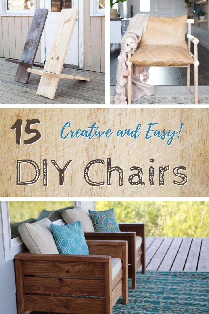 How about building a chair in style? Here are 15 creative and easy #DIY chairs that you can build at home and on a budget. What a great list! #DIY #homedecor #furniture
