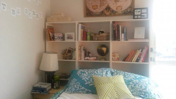 DIY Headboard from a bookcase