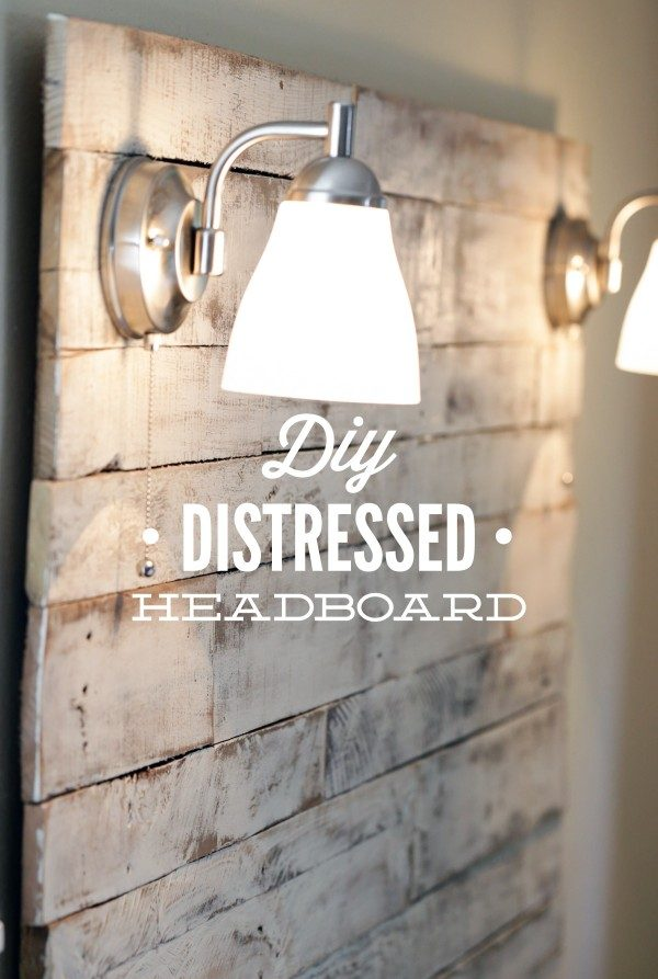 DIY headboard includes lights