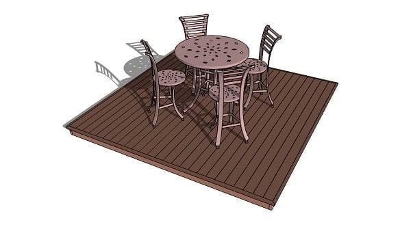 DIY ground level deck plans #DIY #deck #woodworking