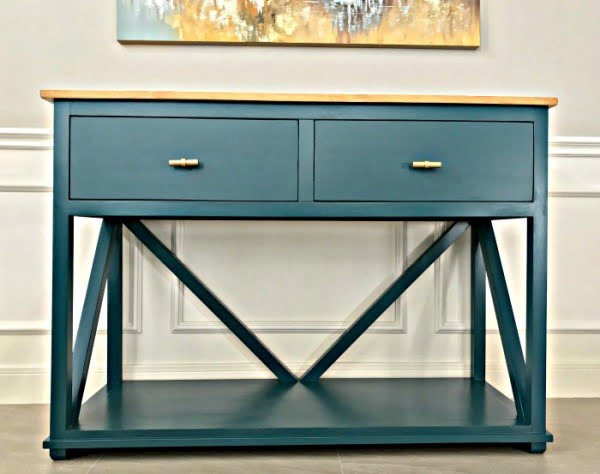 DIY Farmhouse Console Table Plan with Drawers - Abbotts At Home