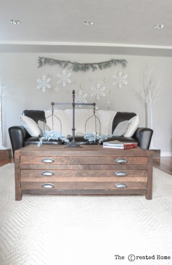 DIY Printmaker's Coffee Table - The Created Home