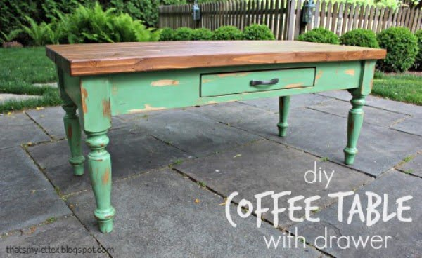 DIY Coffee Table (with drawer) - Jaime Costiglio #DIY #homedecor #furniture