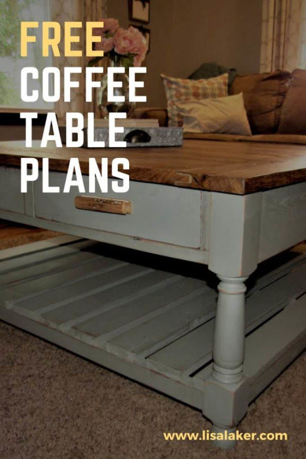 Coffee Table with Drawers - Free Woodworking Plans #DIY #homedecor #furniture