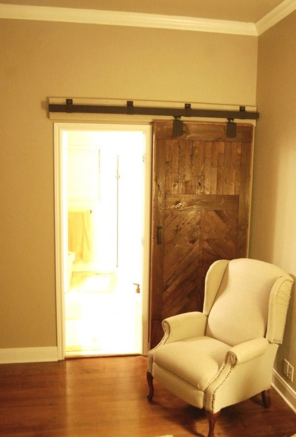 Sliding Barn Door: Install It | The Accent Piece