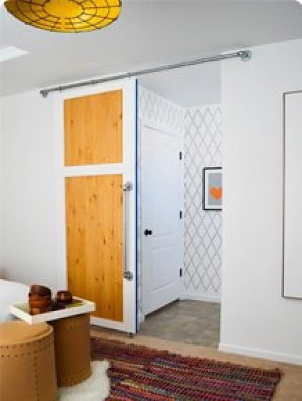 How To Build A SIMPLE Sliding Barn Door • Vintage Revivals