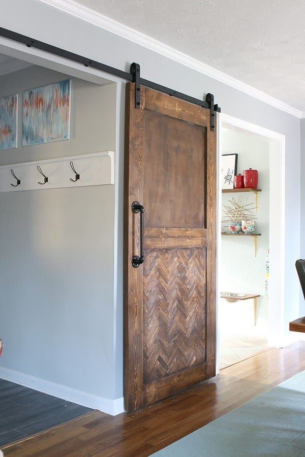 How to Build a Herringbone Barn Door - Bower Power