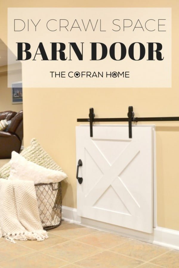 DIY Crawl Space Barn Door - The Cofran Home