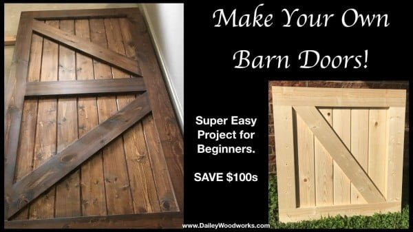 Easy to Make Barn Doors - How To