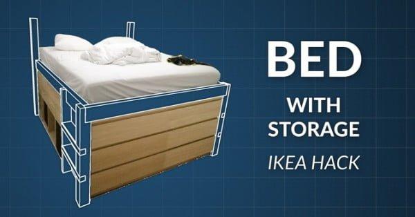 DIY Wooden Storage Bed Frame by Henri Rantanen #diy #homedecor #bedroomdecor #storage