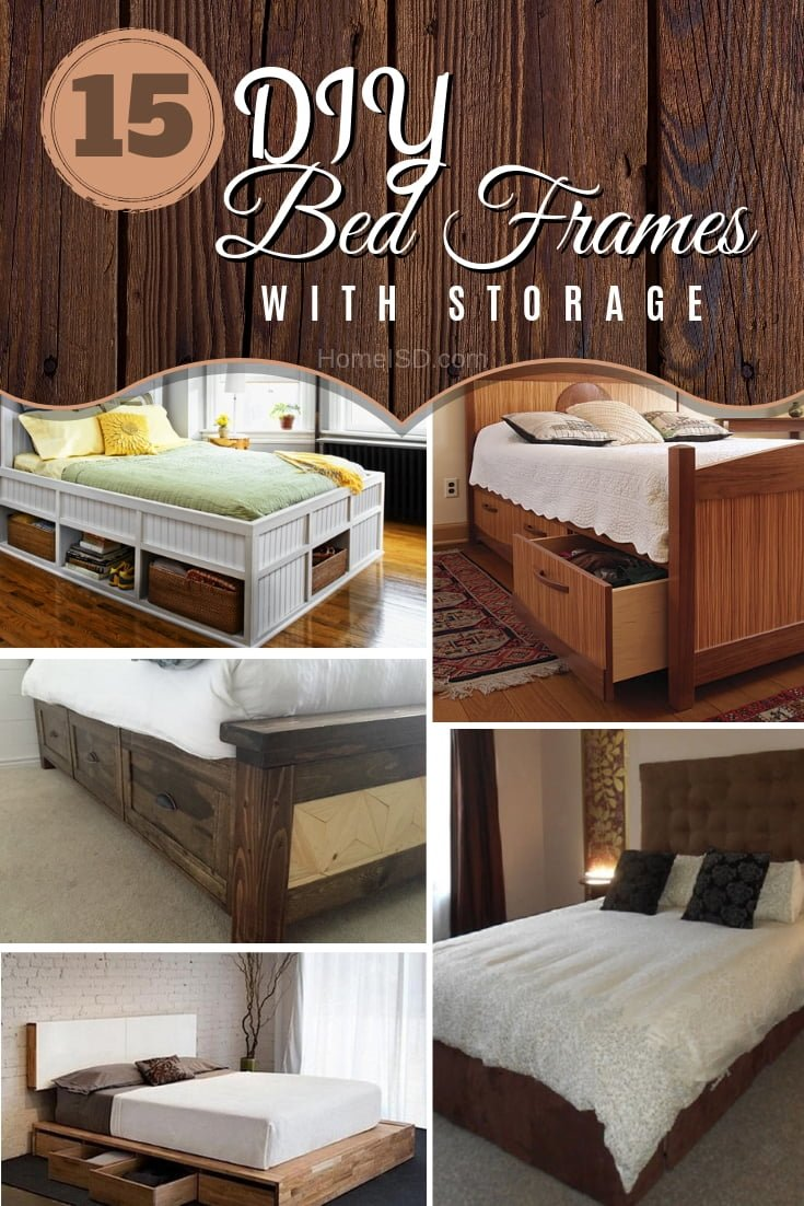 16 Easy Diy Bed Frames With Storage To Store Everything In