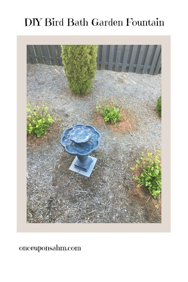 DIY Bird Bath Garden Fountain -