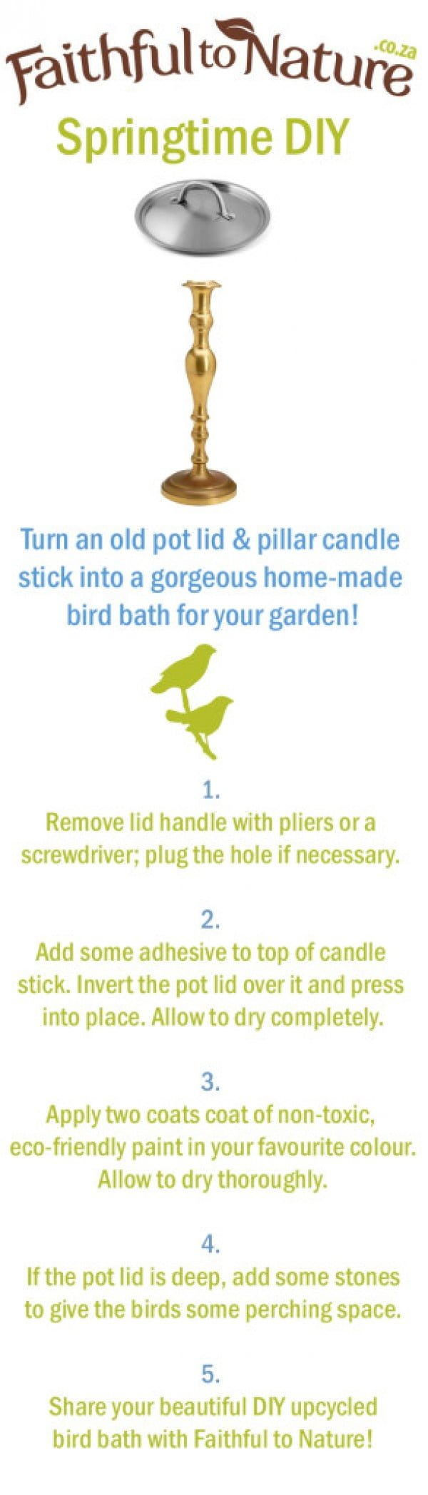 Spring Repurposing Project: Beautiful DIY Bird Bath