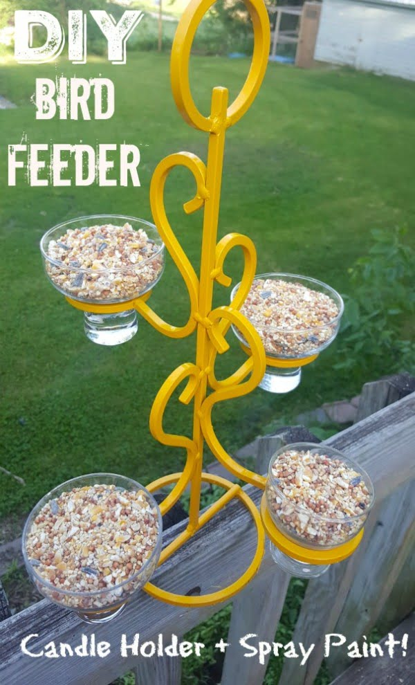 DIY Decorative Home Recycled Glam Bird Feeder