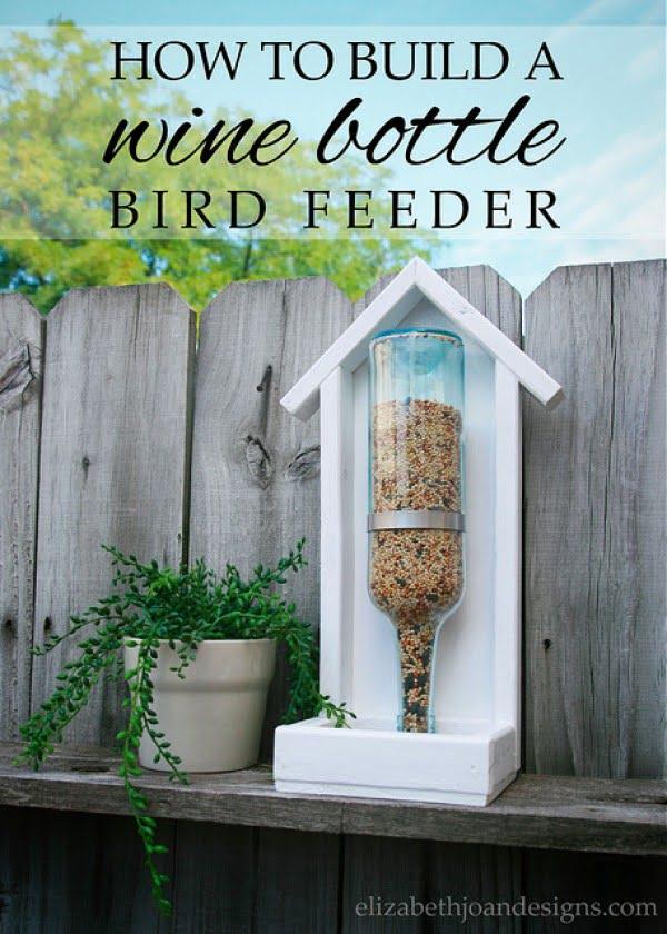How To Build A Wine Bottle Bird Feeder