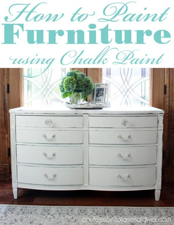 How to Paint Furniture using Chalk Paint #DIY #homedecor #chalkpaint #makeover