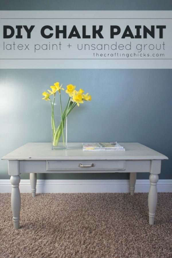 DIY Chalk Paint #DIY #homedecor #chalkpaint #makeover