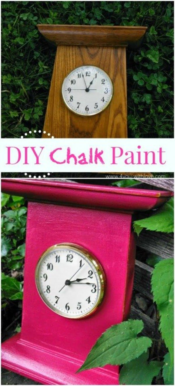 Chalk Paint Tutorial: An Easy DIY Recipe for Crafters & DIYERS #DIY #homedecor #chalkpaint #makeover