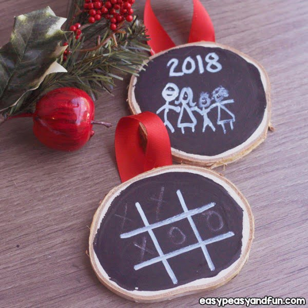 DIY Chalk Paint Ornaments