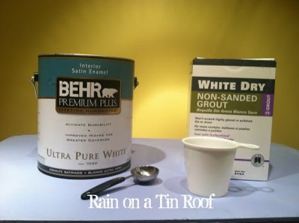 How to Make Chalk Paint and Results of Paint #DIY #homedecor #chalkpaint #makeover