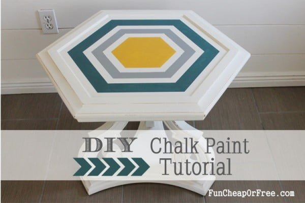 DIY Chalk Paint + how to refinish furniture!