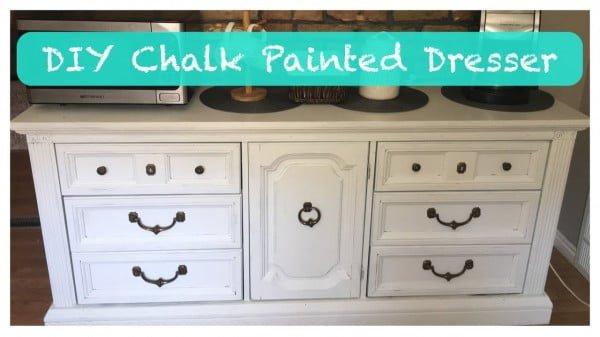 DIY Chalk Painted Dresser #DIY #homedecor #chalkpaint #makeover