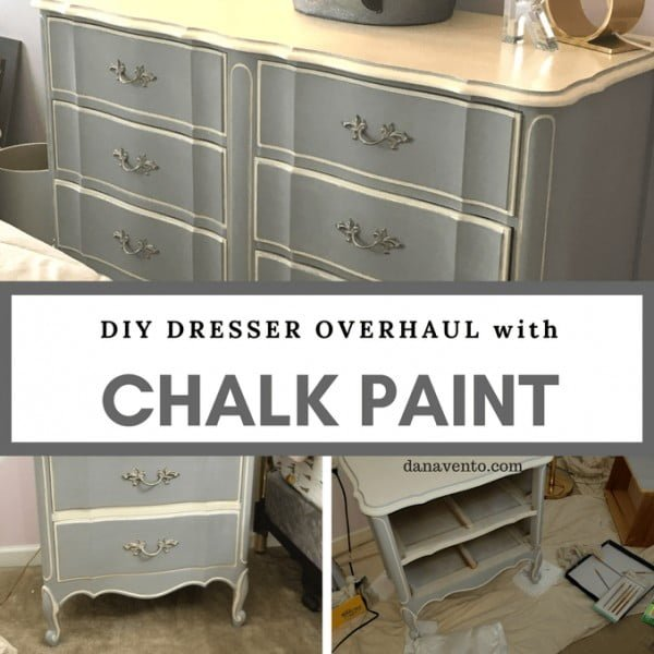 DIY Dresser Overhaul With Chalk Paint #DIY #homedecor #chalkpaint #makeover