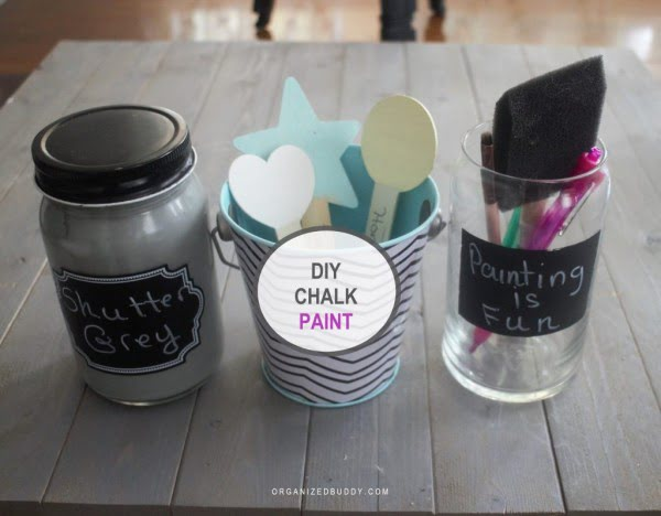 Chalk Paint DIY: How to Make Your Own Chalk Paint - #DIY #homedecor #chalkpaint #makeover