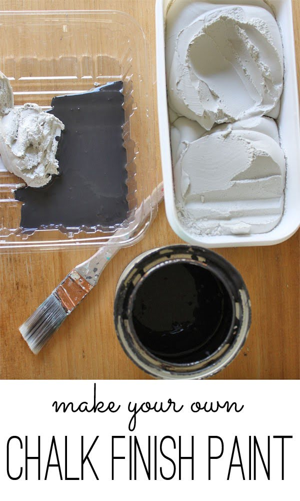 chalk finish paint recipe #DIY #homedecor #chalkpaint #makeover