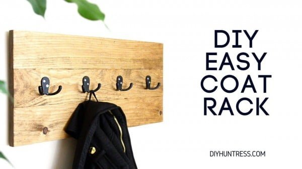 How To Make A Coat Hanger #DIY #homedecor #organization