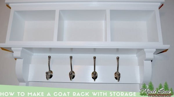 How To Make a Coat Rack with Storage
