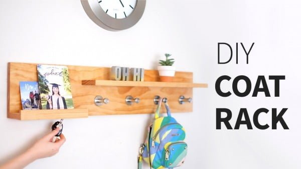 DIY coat rack organizer shelf... thing #DIY #homedecor #organization