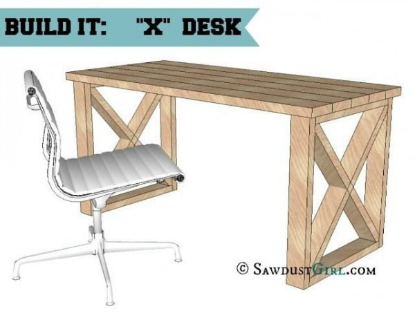 X leg Office Desk #DIY #homedecor #furniture