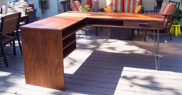 How To Make a Modern L-shaped Office/Computer Desk! #DIY #homedecor #furniture