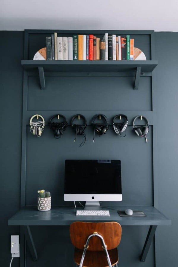 Built-In Computer Desk DIY #DIY #homedecor #furniture