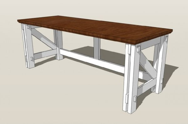 Custom Computer Desk Plans #DIY #homedecor #furniture