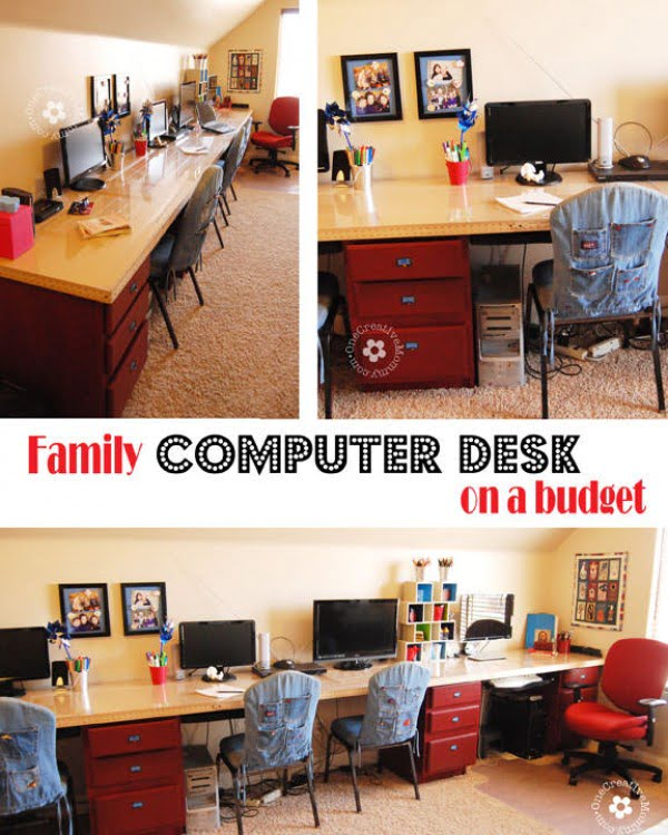 DIY Kids Computer Desk Station #DIY #homedecor #furniture