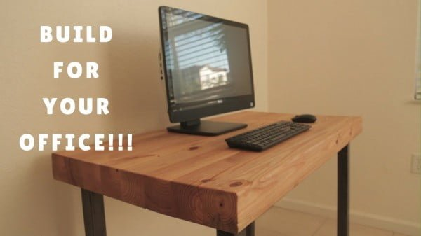 DIY COMPUTER DESK #DIY #homedecor #furniture