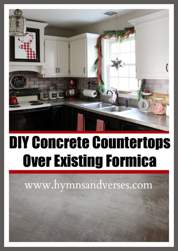 DIY Concrete Countertops Over Existing Formica #DIY #kitchendesign #homedecor