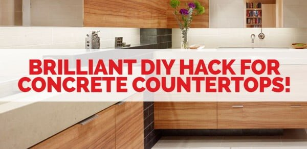 This Brilliant Hack Makes DIY Concrete Countertops SO Easy! #DIY #kitchendesign #homedecor